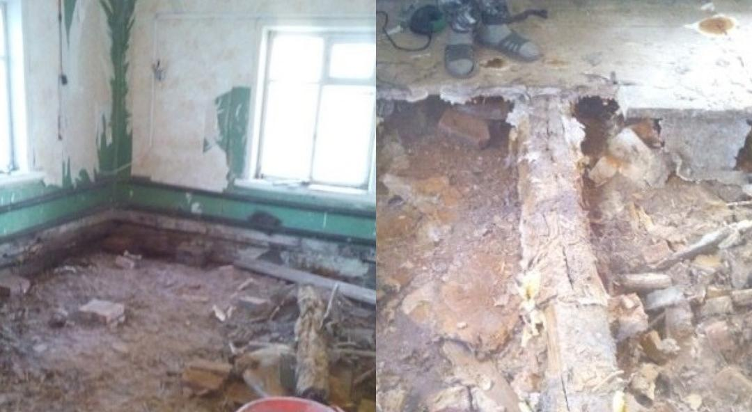 После капремонта в доме в селе Фатеево провалился пол в четырех квартирах