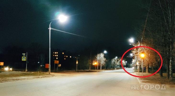 Новые светофоры в Чепецке до сих пор не работают