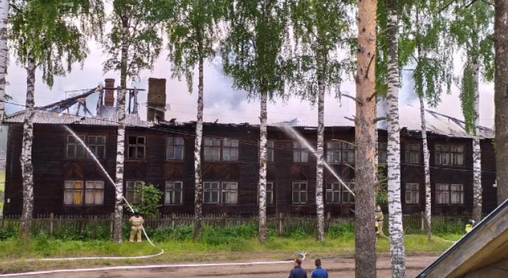 В Каринторфе загорелся жилой дом
