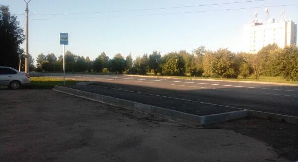 Фото дня: в Кирово-Чепецке оборудовали остановку там, где автобусы не ходят