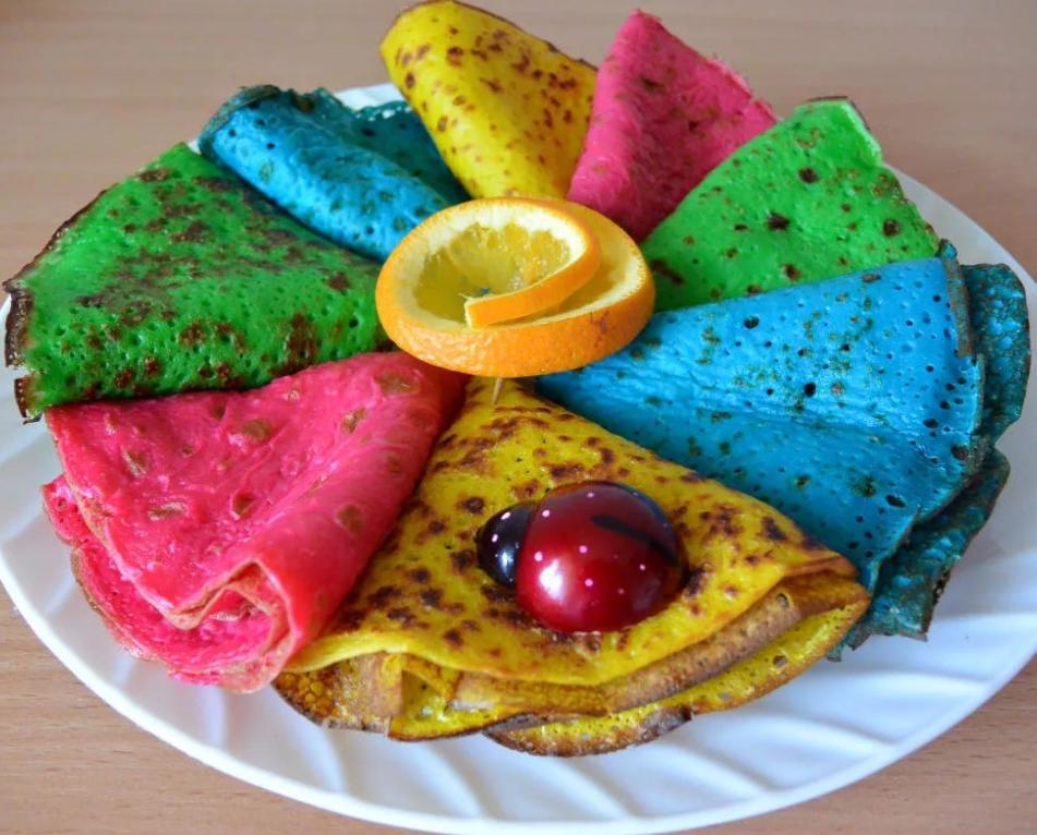Дети будут в восторге: готовим цветные блины
