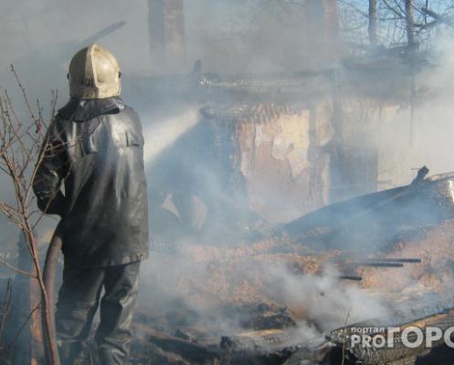 В Чепецком районе в пожаре пострадал мужчина