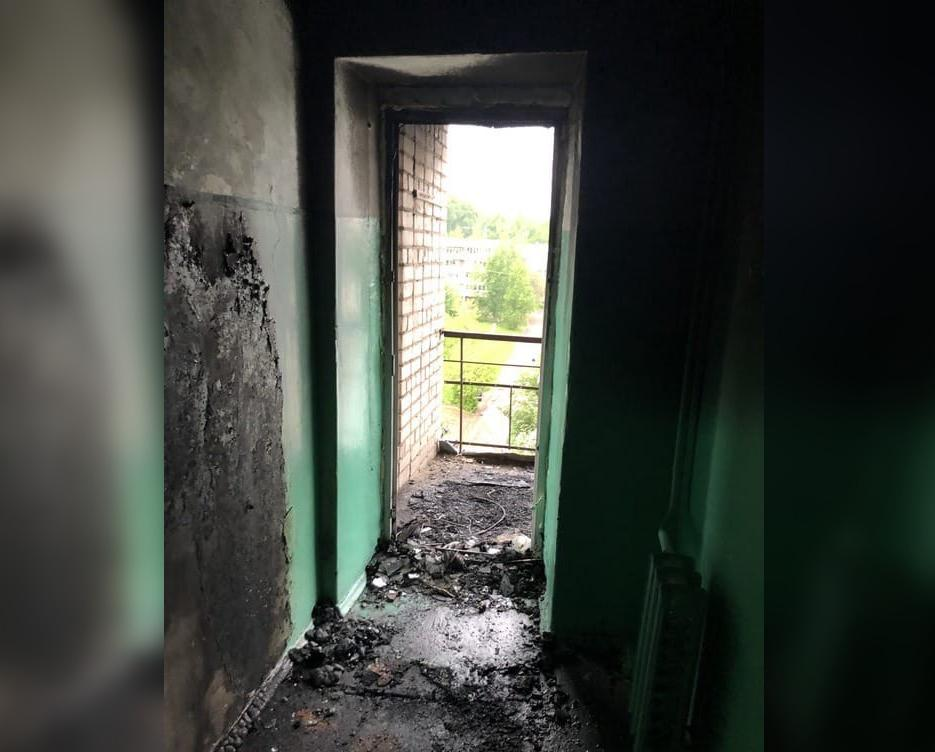 Снова поджог: в малосемейке на улице Ленина неизвестные спалили мебель на 7 этаже