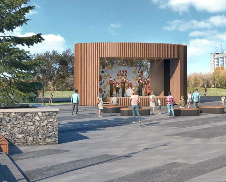 Амфитеатр, два экрана и много зелени: что появится в сквере «Река времени»
