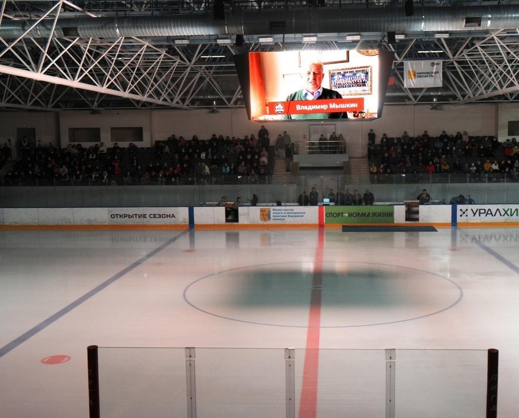 Хоккейный матч в «Олимп-Арене» прошел при переполненных трибунах