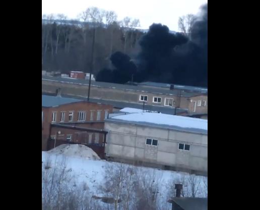Чепчан удивил столб черного дыма в городе