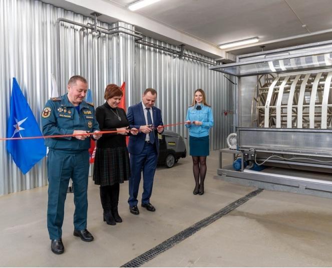 В Кирово-Чепецке открыли рукавную базу специальной пожарной охраны