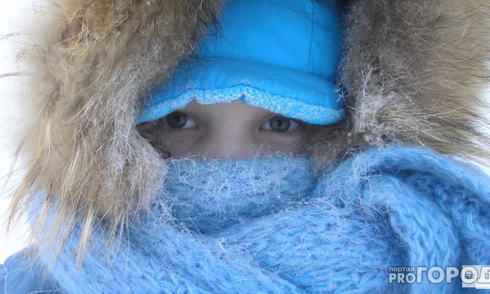 В Кирово-Чепецке морозы продержатся до понедельника