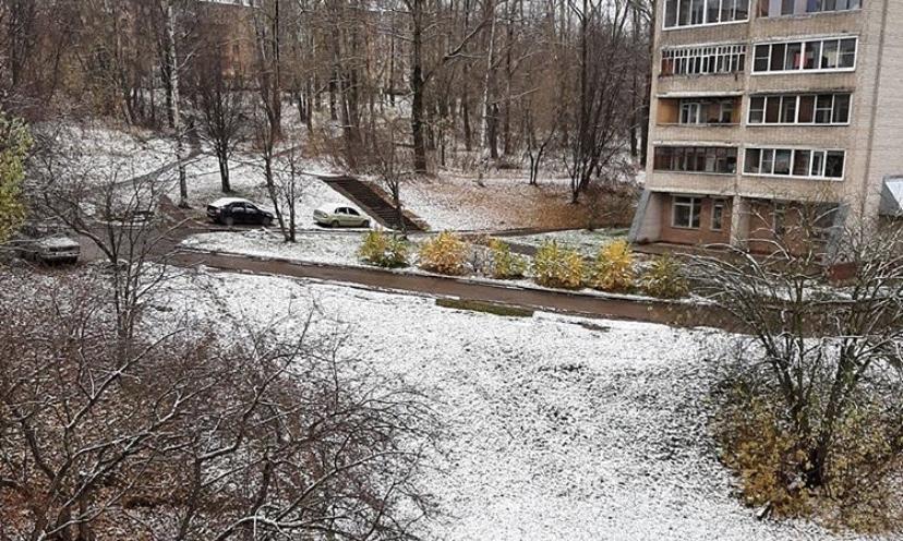Первый снег:  чепчане поделились фотографиями в соцсетях