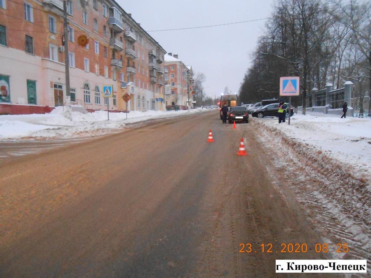 В Кирово-Чепецке пенсионер на ВАЗе сбил женщину-пешехода