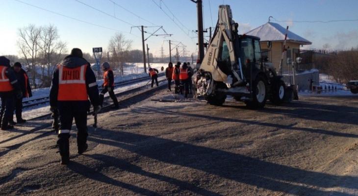 В Нововятске под грузовой поезд попал 28-летний мужчина