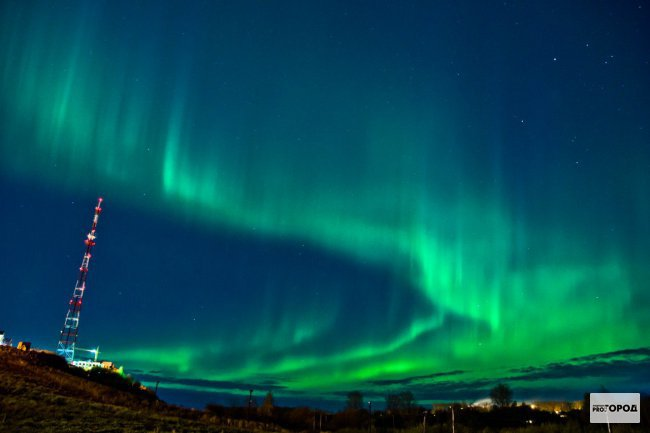 Сегодня ночью чепчане смогут увидеть северное сияние