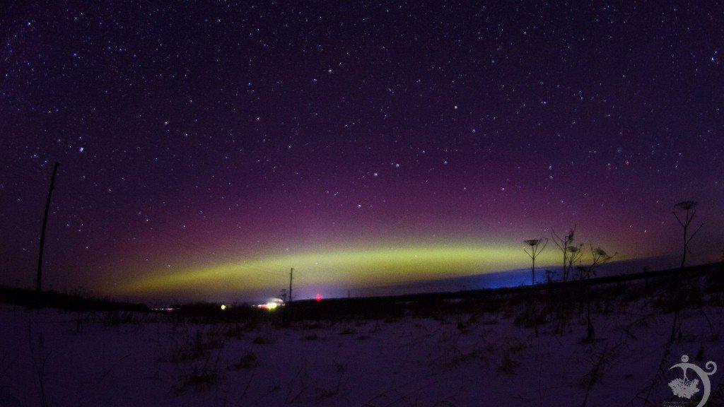 Фото: в новогоднюю ночь жители Кировской области видели полярное сияние