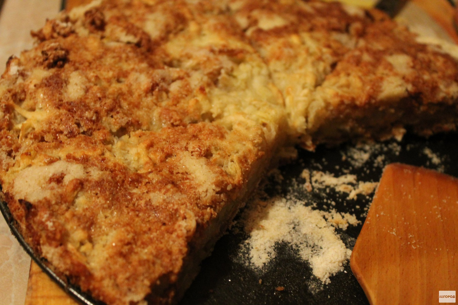 Яблочный пирог без яиц: проще не бывает!