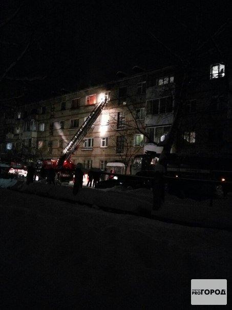 На Лермонтова произошел пожар