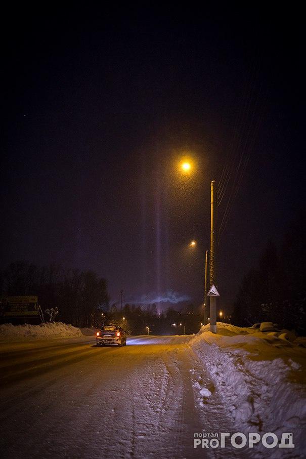 В Кирово-Чепецке наблюдали в небе необычное явление