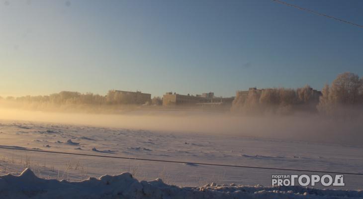 В Кирово-Чепецке ожидается резкое похолодание: ощущаемая температура -41 градус