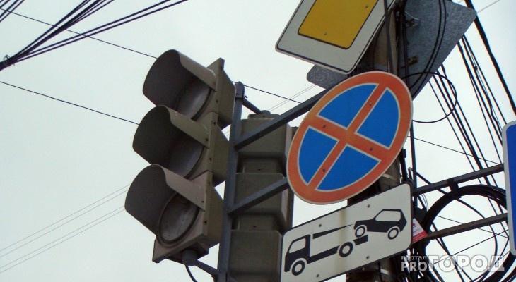 Чепчанка села за руль нетрезвой и сбила светофор