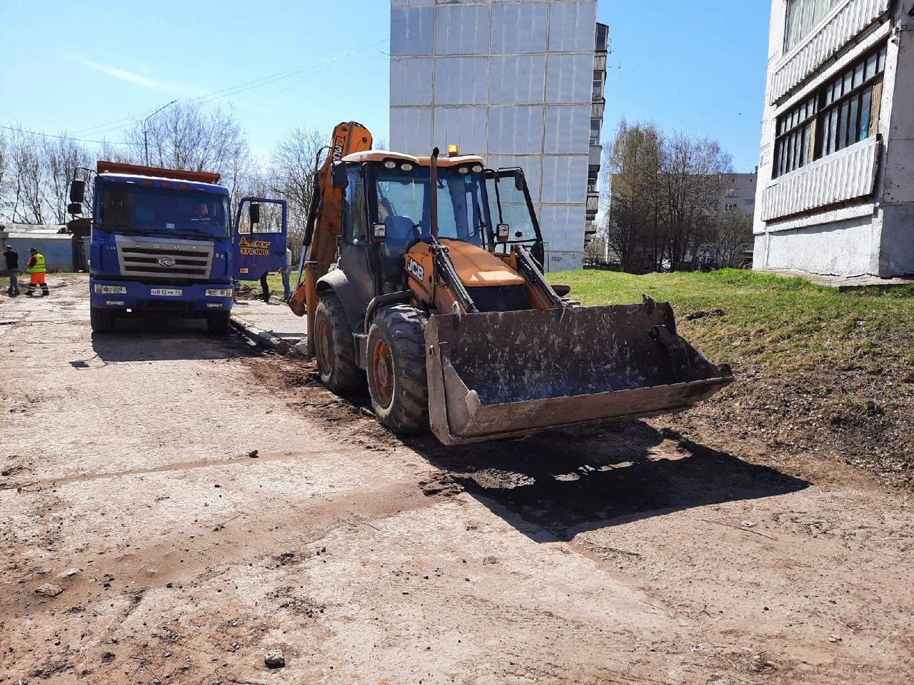 В Чепецке начали ремонтировать улицу Речную