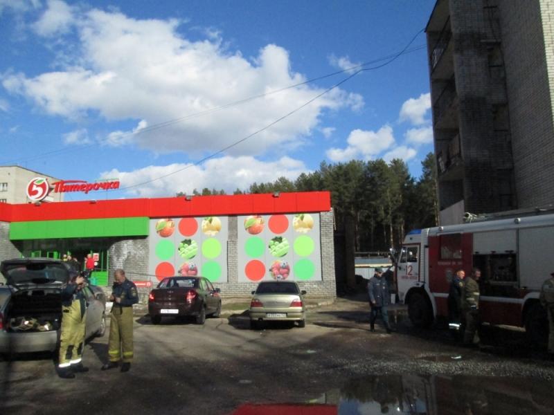 Стала известна причина пожара в чепецком супермаркете