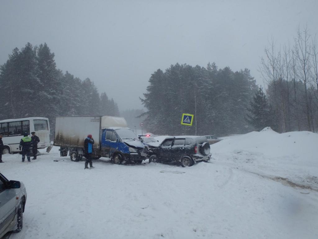 В Чепецке ищут очевидцев массовой аварии, произошедшей в сильный снегопад