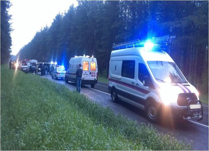 В ГИБДД рассказали, как произошла авария на трассе Киров-Кирово-Чепецк