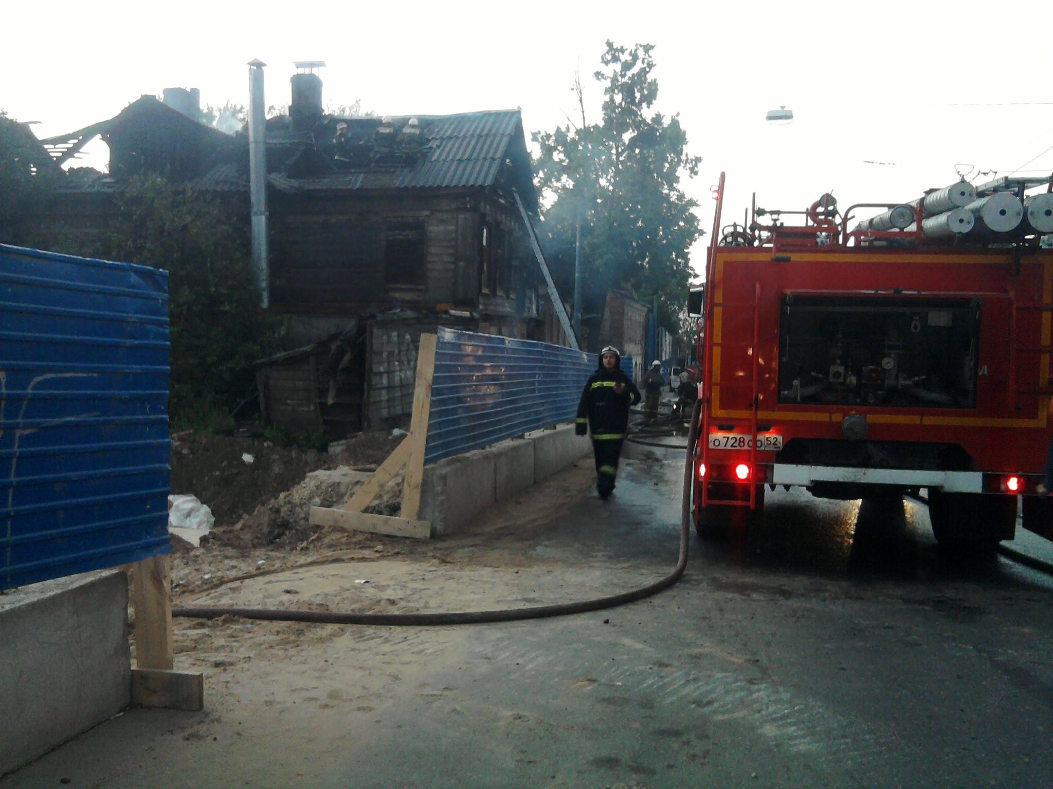 В Чепецком районе сгорела баня и частный дом