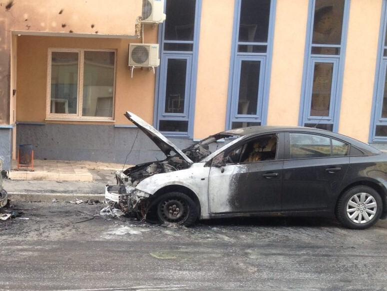 В Чепецком районе сгорел автомобиль