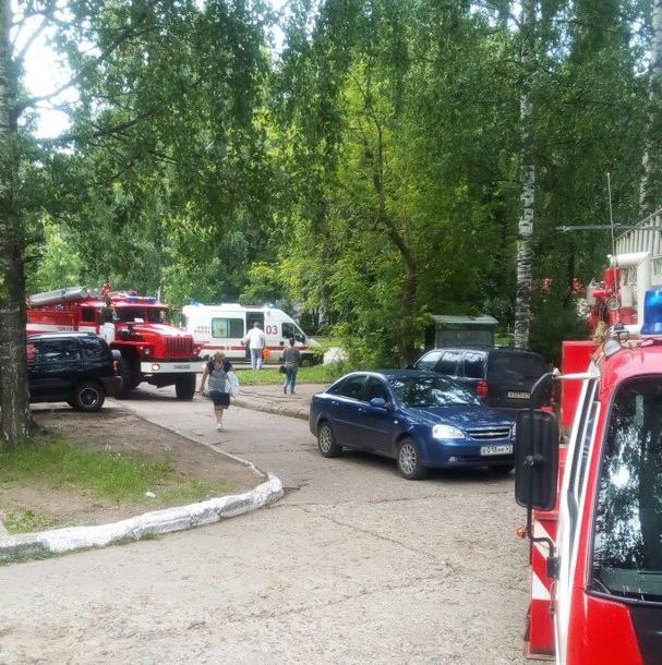 В Чепецке загорелось центральное отделение Почты России
