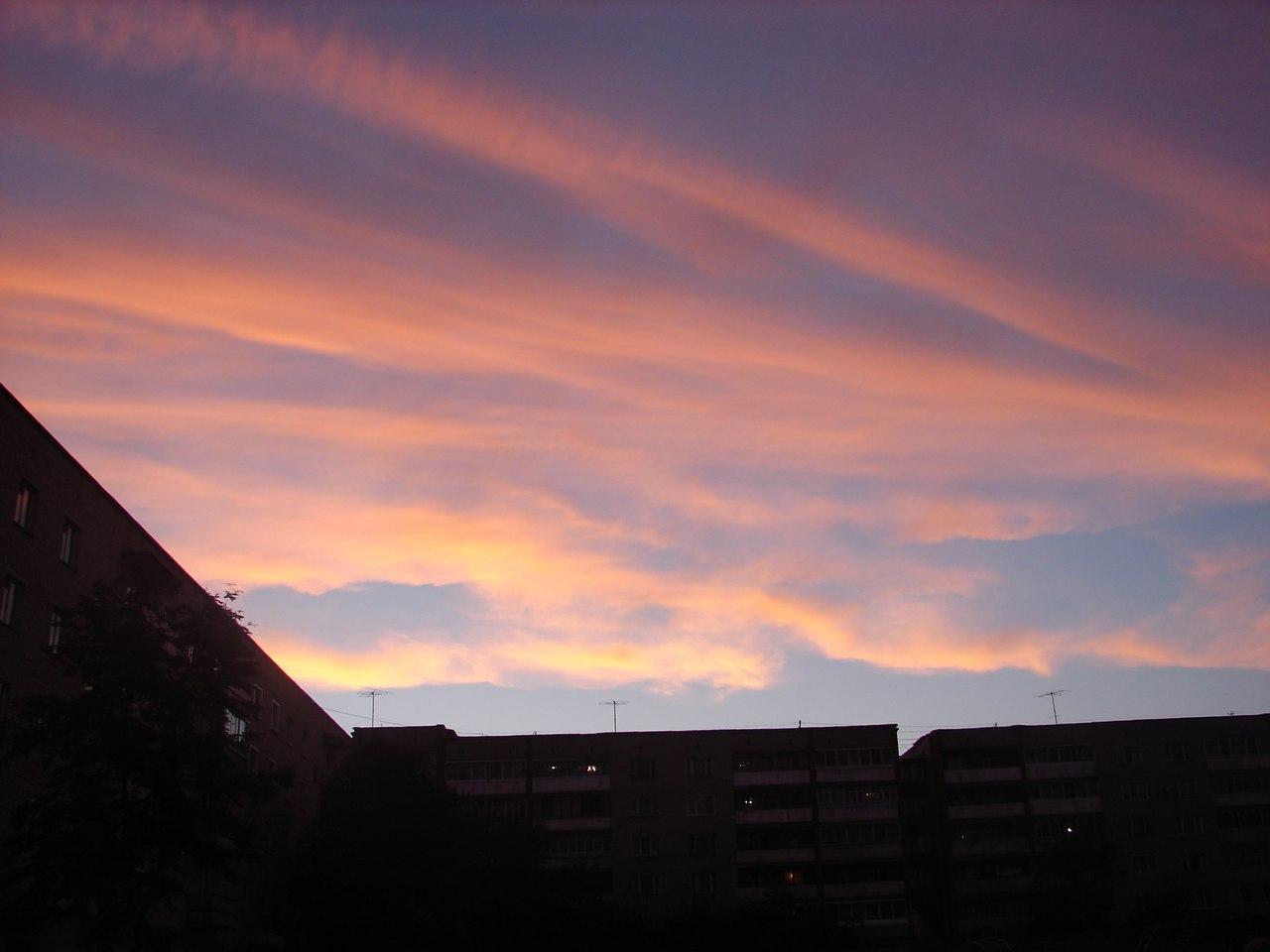 7 фото прекрасного вечернего неба в Кирово-Чепецке