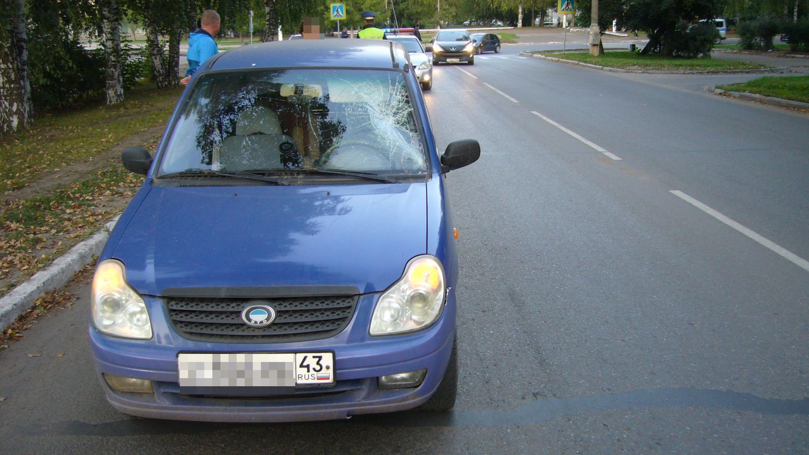 В Чепецке женщина за рулем иномарки сбила пенсионера