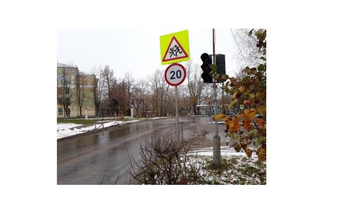 В Чепецке неправильно повесили  новый дорожный знак