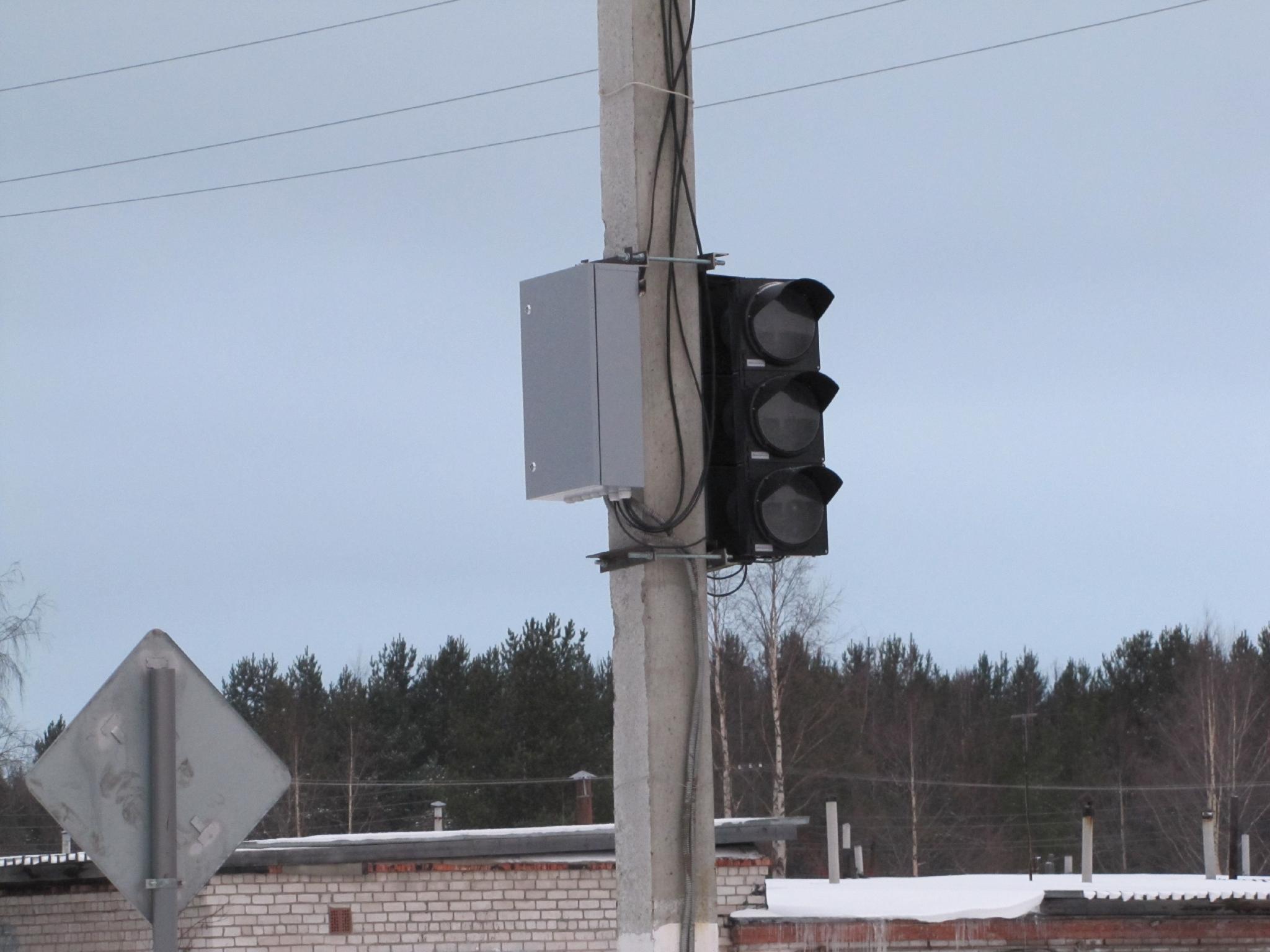 В центре Кирово-Чепецка сломался светофор