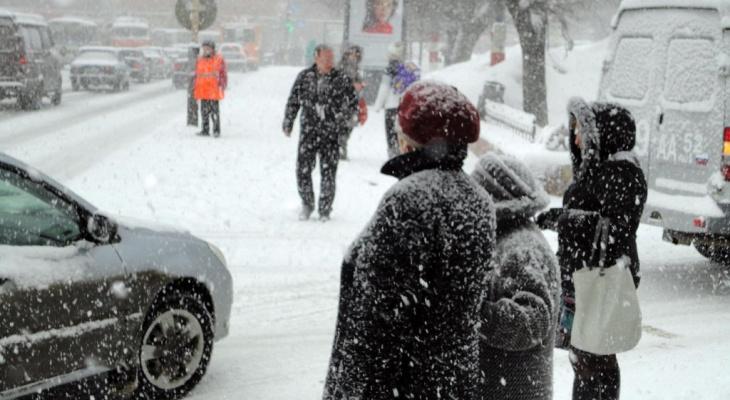 В Кирово- Чепецке  ожидается потепление и снегопад