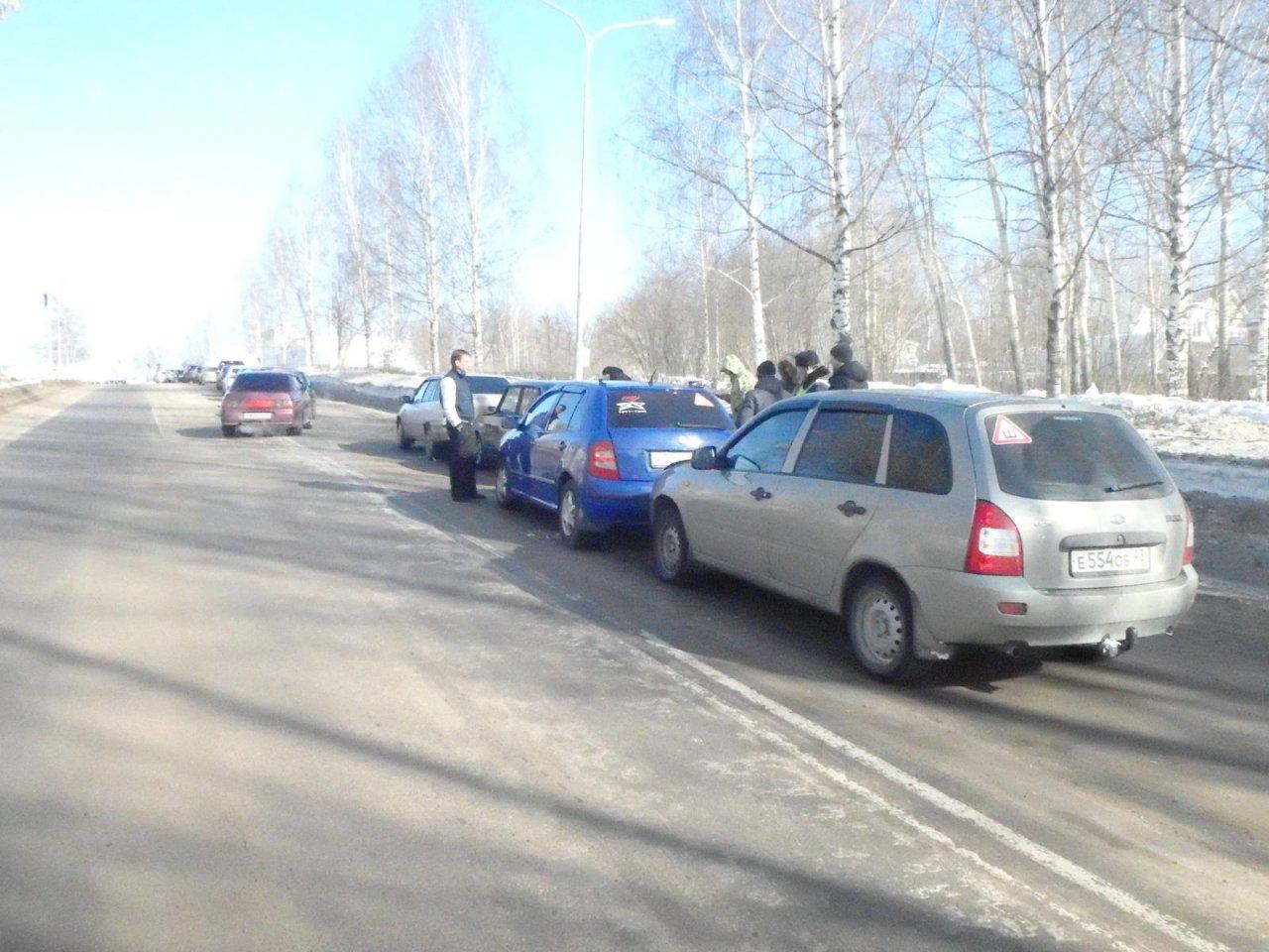 В Чепецке произошла массовая авария