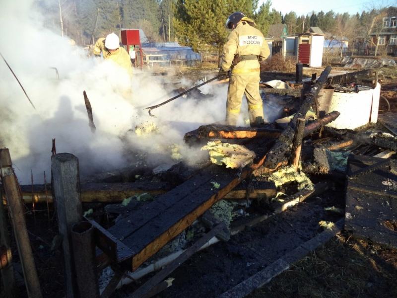 В Кирово-Чепецком районе сгорел садовый дом: на пепелище нашли тела двух человек