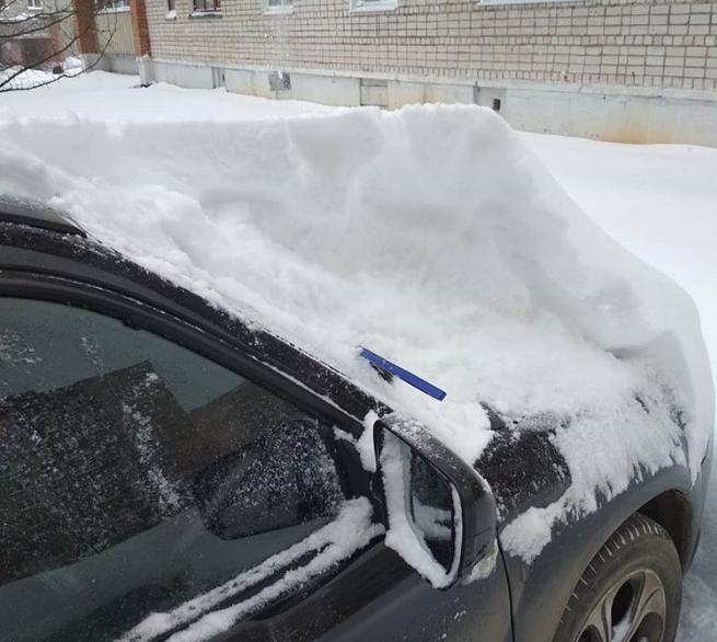 Снегопад в Чепецке: горожане говорят об Апокалипсисе на дорогах