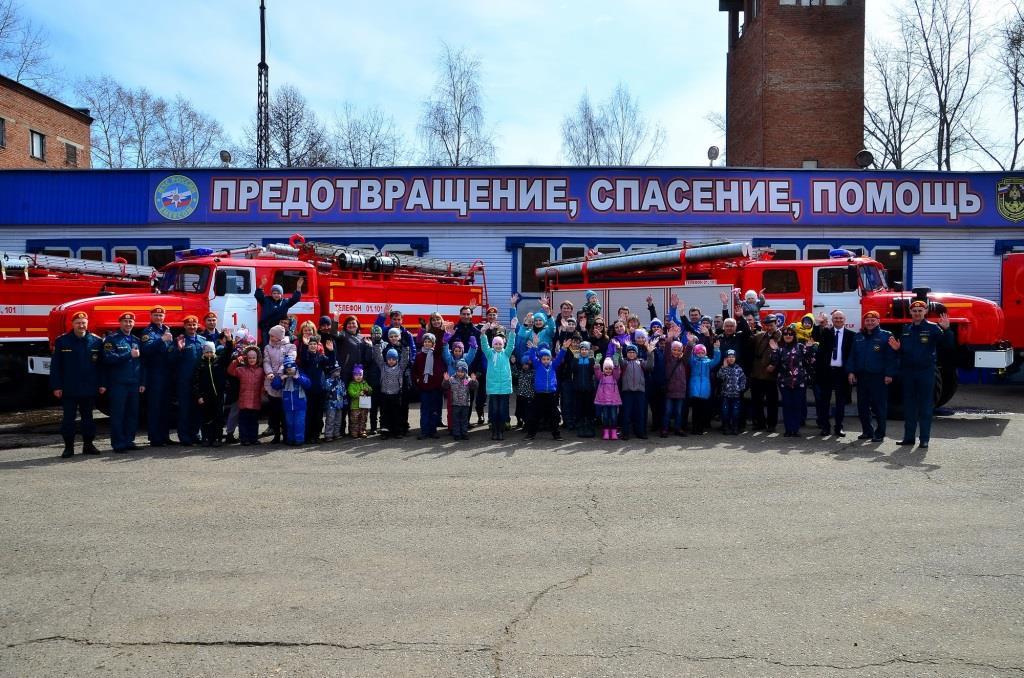 Дети сотрудников филиала «КЧХК» побывали на экскурсии в пожарной части