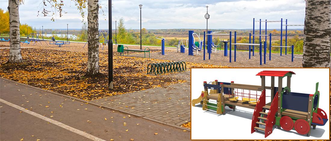 На детской площадке на Вятской набережной появится новая игровая зона