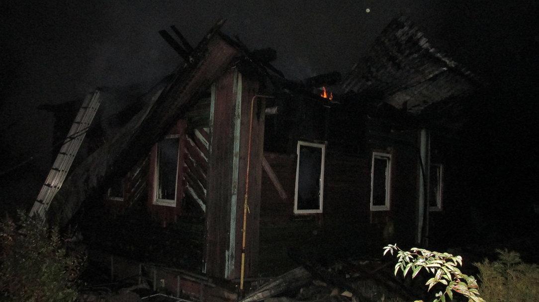 В Чепецком районе сгорел жилой дом: ущерб от пожара оставил 2 миллиона рублей