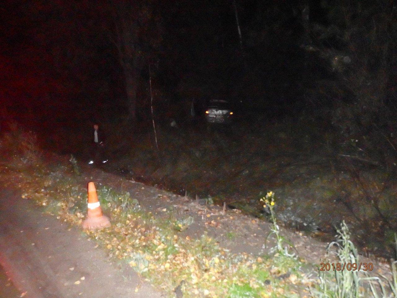 В Чепецком районе Renault вылетел в кювет: пострадал годовалый ребенок