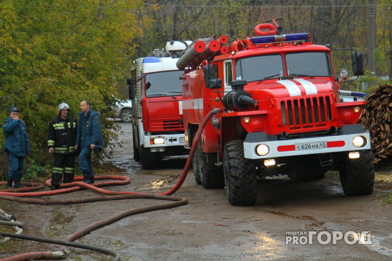 В Кирово-Чепецком районе сгорел дом