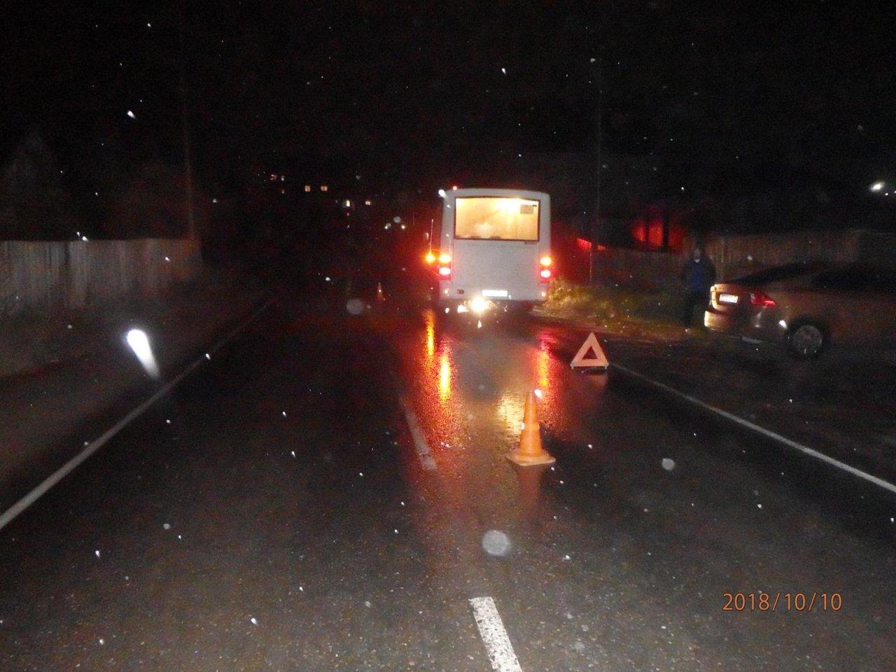 В Чепецке автобус маршрута 9а сбил женщину-пешехода