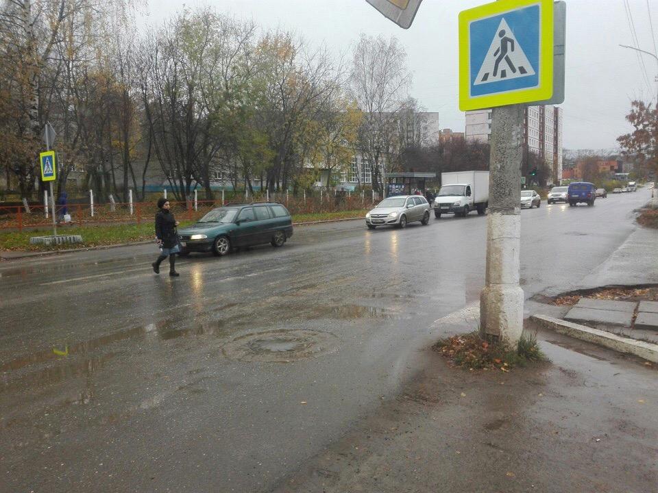 В Чепецке назвали самый аварийный пешеходный переход