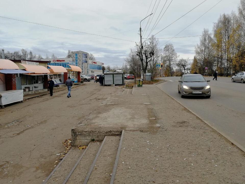 Фото дня: в Чепецке пропала еще одна остановка