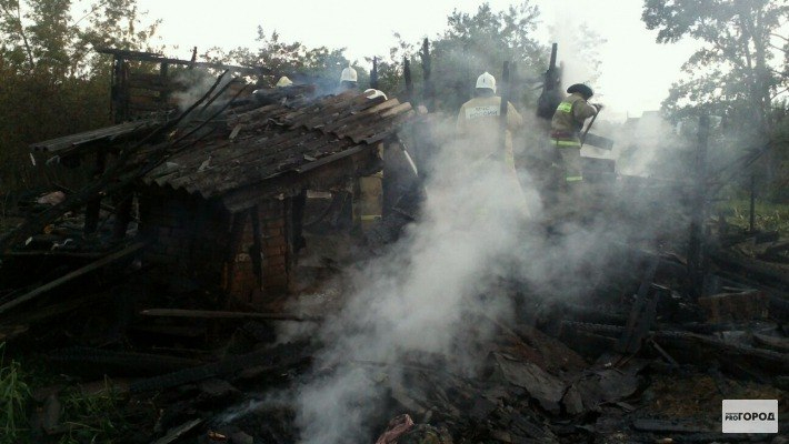 В Кирово-Чепецке сгорел частный дом
