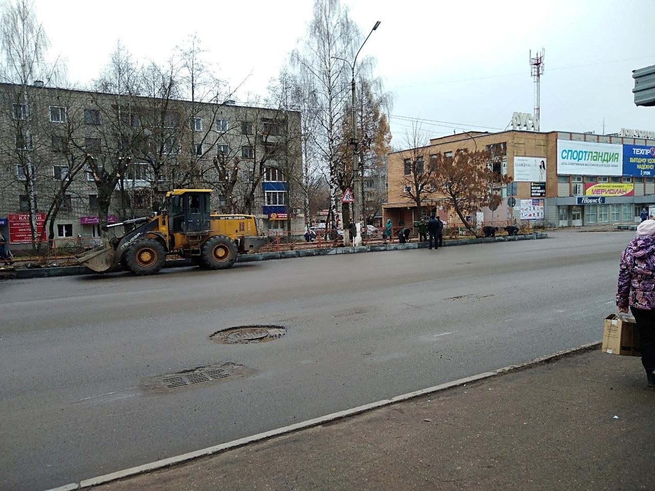 На проспекте Мира заканчивают благоустройство тротуара