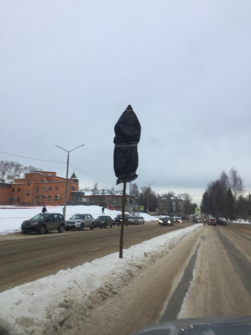 На проспекте России в Кирово-Чепецке установили дорожные знаки