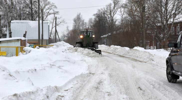 Известно, когда начнется вывоз снега с улиц Чепецка