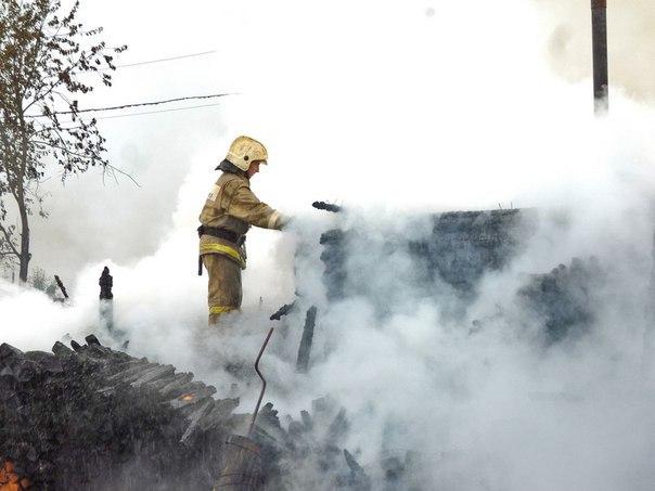 Ночью в Кирово-Чепецком районе загорелась баня